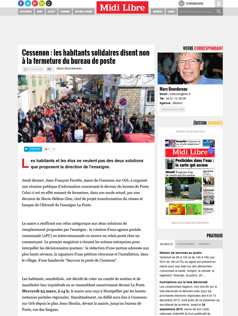 photo texte du midi libre